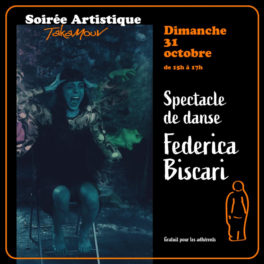 spectacle soiree artistique danse solo federica biscari studio takamouv contemporain